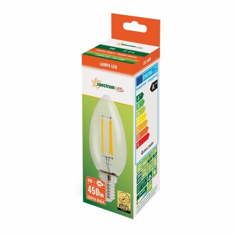4W E14 LED lemputė COG CANDLE box