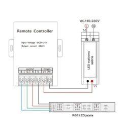 RGB LED juostu valdiklis V3-X m