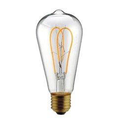 5W E27 LED lemputė Vintage Curved Clear ST64