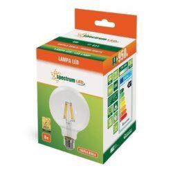 8W E27 LED lemputė G125 Globe