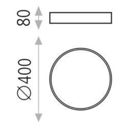 Lubinis šviestuvas MINSK W40 matmenys