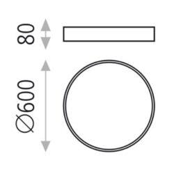 Lubinis šviestuvas MINSK W60 matmenys