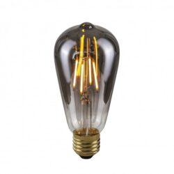 Dekoratyvinė lemputė E27 4W ST64 Smoke