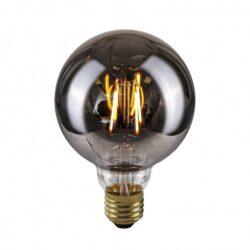 Dekoratyvinė lemputė E27 4W G95 Smoke