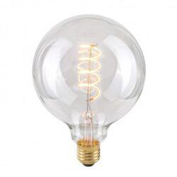 Dekoratyvinė lemputė E27 4W G125 Spiral Clear