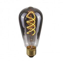 Dekoratyvinė lemputė E27 4W ST64 Spiral Smoke