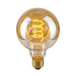 Dekoratyvinė lemputė E27 4W G95 Spiral Amber
