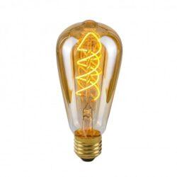 Dekoratyvinė lemputė E27 4W ST64 Spiral Amber