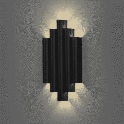 Sieninis šviestuvas Robin Juodas