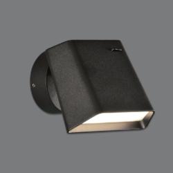 Sieninis LED šviestuvas Biak Juodas