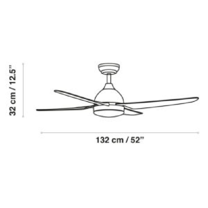 Lubinis ventiliatorius Barine mat.