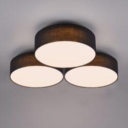 Lubinis LED šviestuvas Lugano 3 juoda