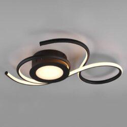 Lubinis LED šviestuvas Jive juoda 50cm