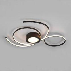 Lubinis LED šviestuvas Jive juoda 80cm