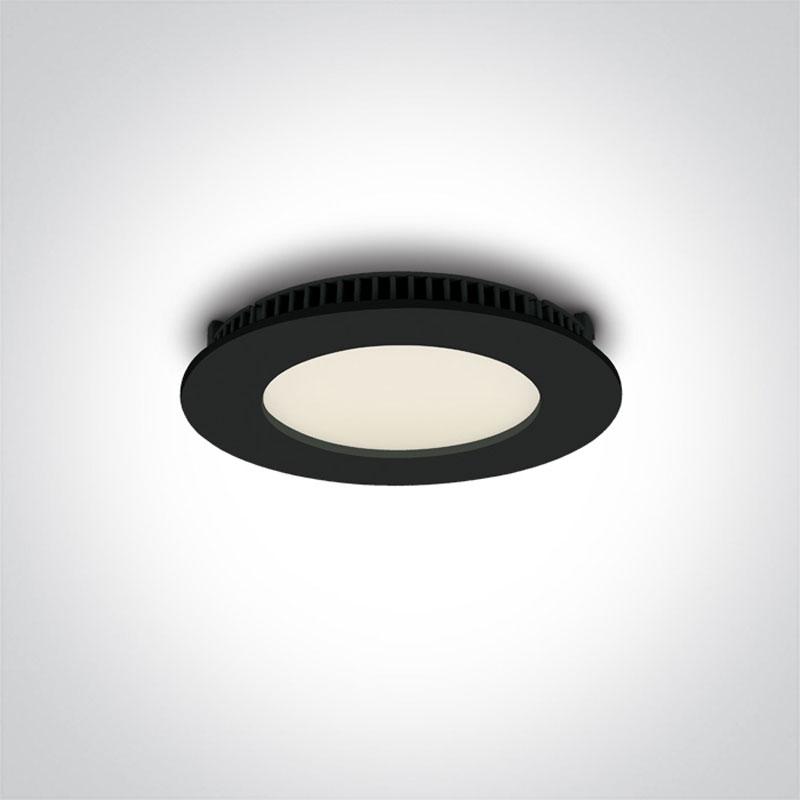 8W Juoda LED panelė 3000K