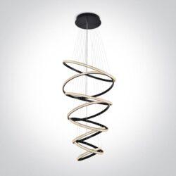 Pakabinamas LED šviestuvas Crystal Swirl 8